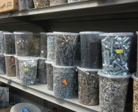 Assorted Bulk Screws, Bolts, Nails, Staples