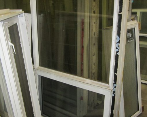 White PVC Fixed/Slide Window Combo – 79 x 71