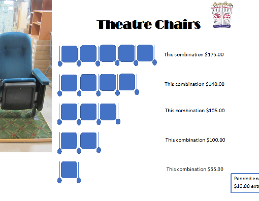 Blue Theatre Chairs