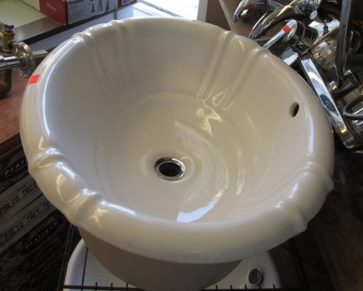 Scalloped Drop In Sink – Porcelain