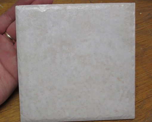White Ceramic Tile – 6″ x 6″