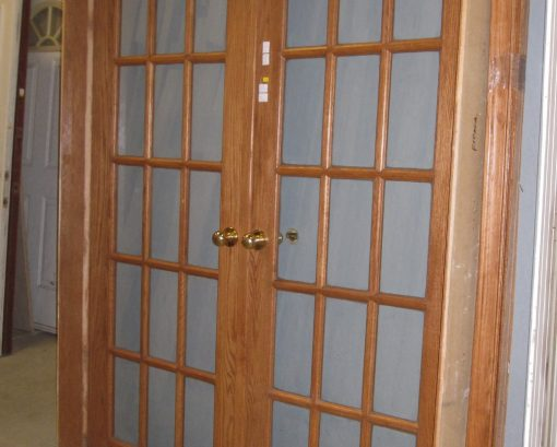Double French Doors in Frame