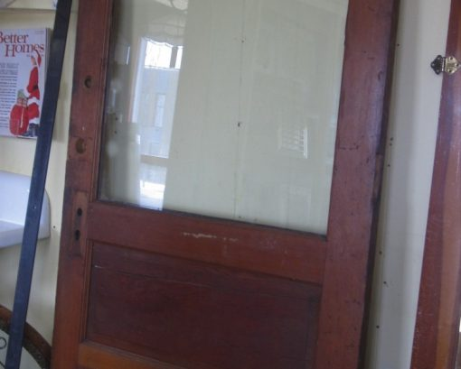 Antique Door features Glass