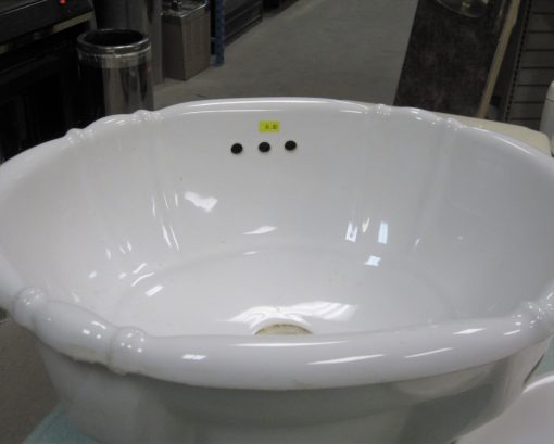 Scalloped Bathroom Sink