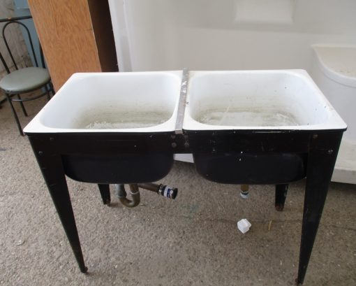 Double Metal Laundry Sinks